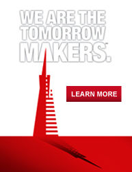 WE ARE THE TOMORROW MAKERS. LEARN MORE...